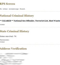 Rps Rental Property Screening